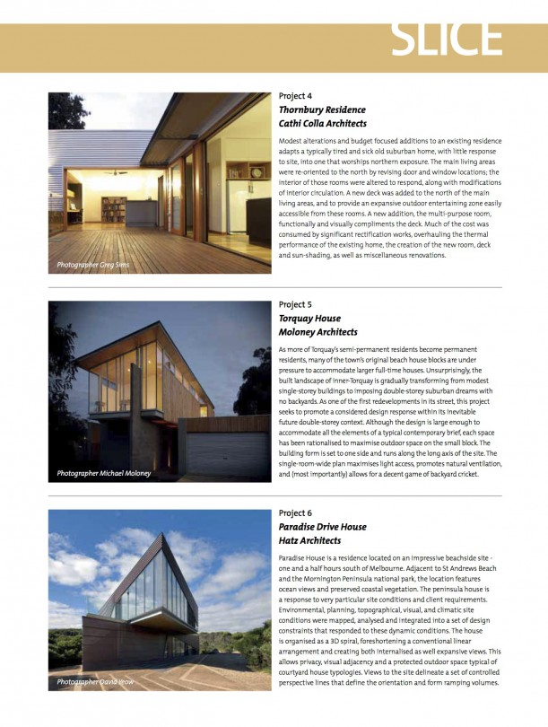 Architect Victoria - Slice_Spring 2011