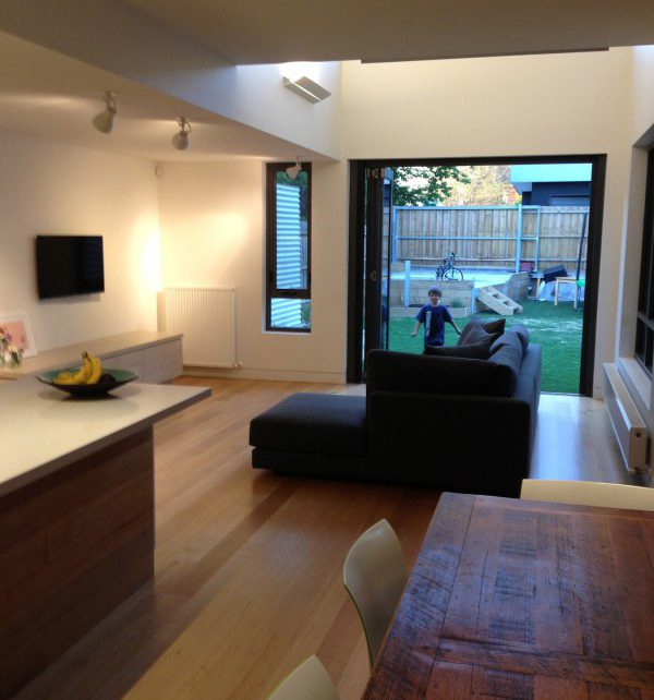 First images (my own) preparing for professional photography of our recently completed home renovation, Brunswick East