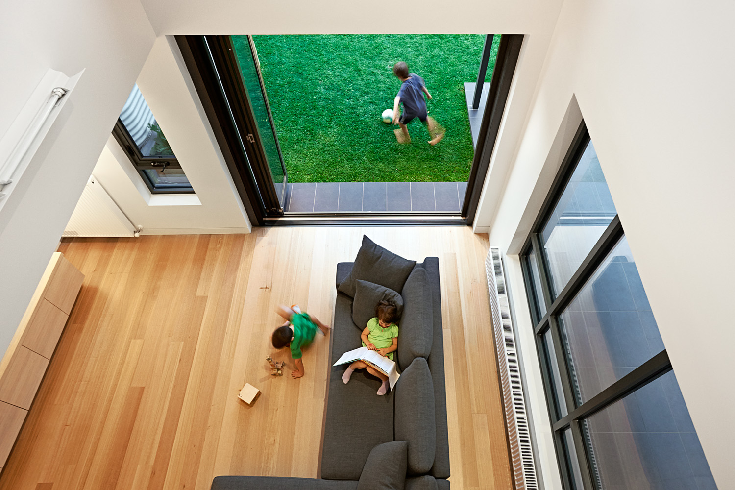 family living areas open plan