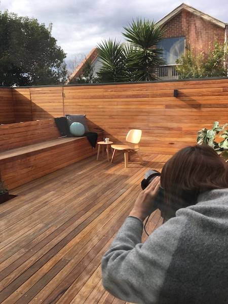 Timber clad deck, Fitzroy North Home